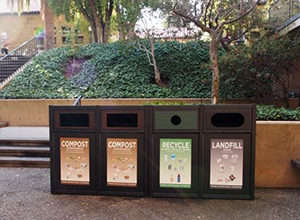 New waste bins for cafes