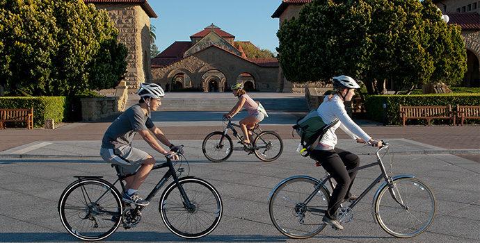bikers in front of memorial church